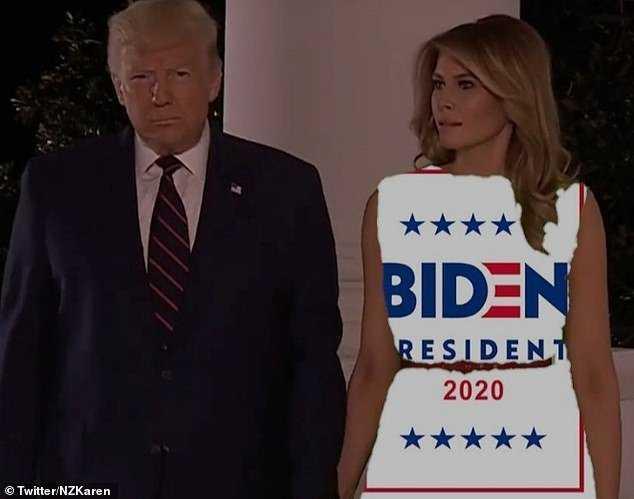 Melania Green Screen Dress Memes Vote Biden