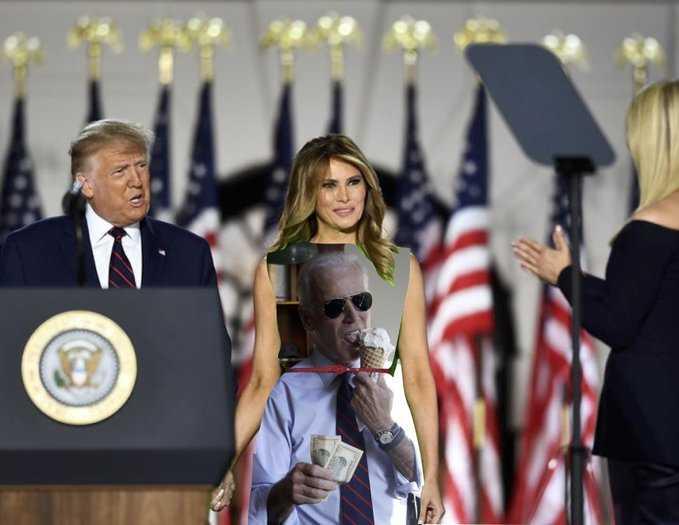 Melania Green Screen Dress Memes Biden
