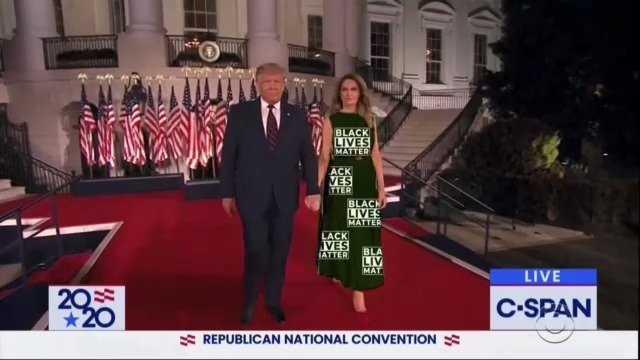 Melania Green Screen Dress Memes Blm