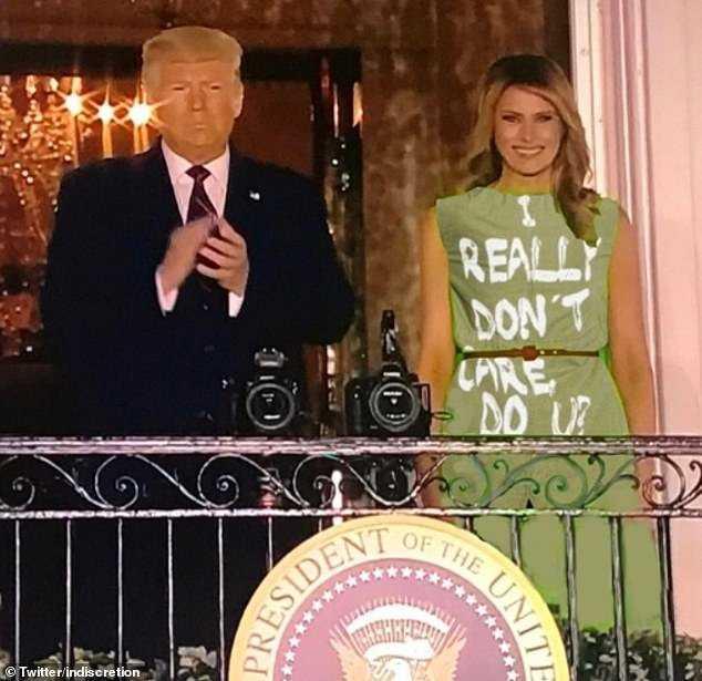 Melania Green Screen Dress Memes Don't Care