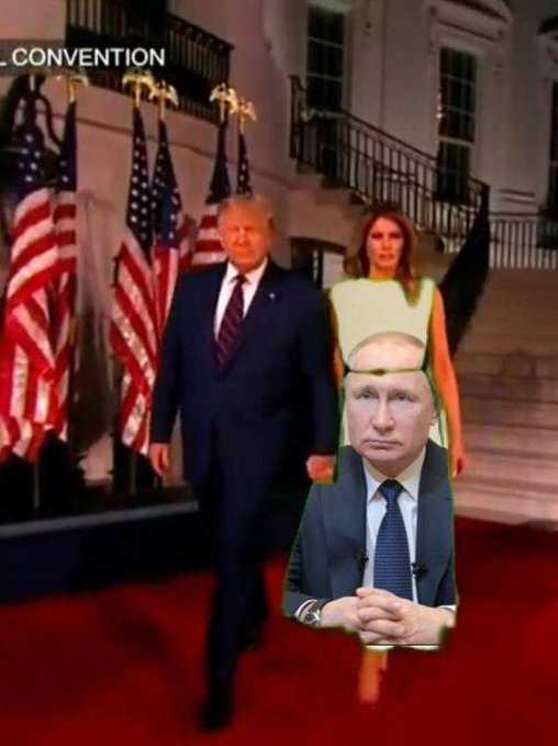Melania Green Screen Dress Memes Putin Him Down A Crotch
