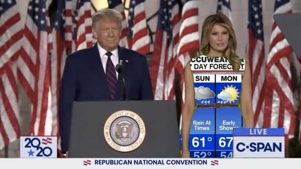 Melania Green Screen Dress Memes The Weather Channel