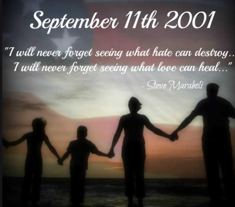 Sept 11 quote - steve maraboli