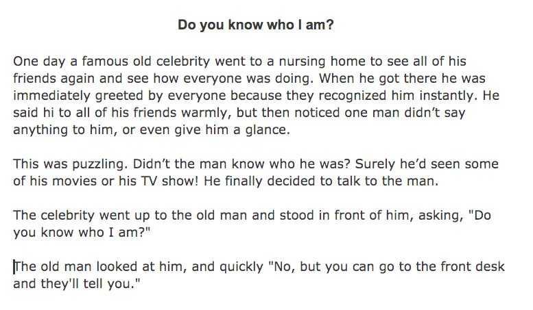 7 Funny Short Stories For Seniors - Mistaken Identity