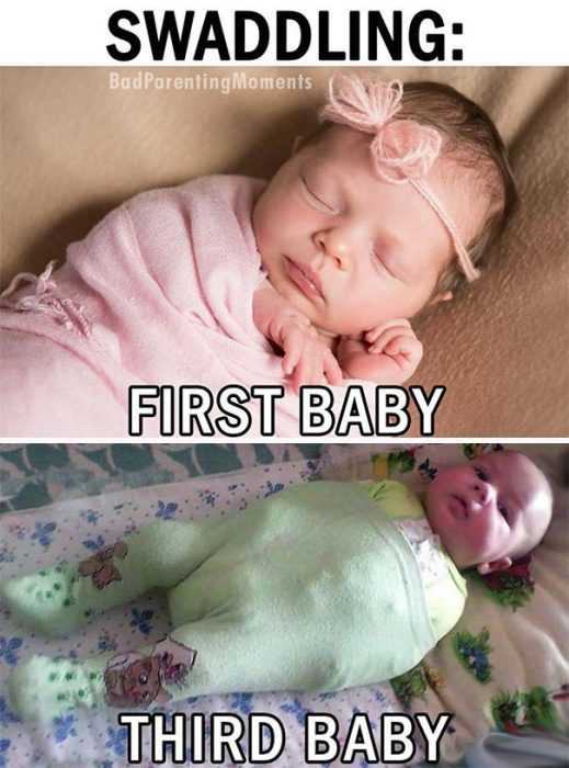 Funny parenting pictures about the second kid