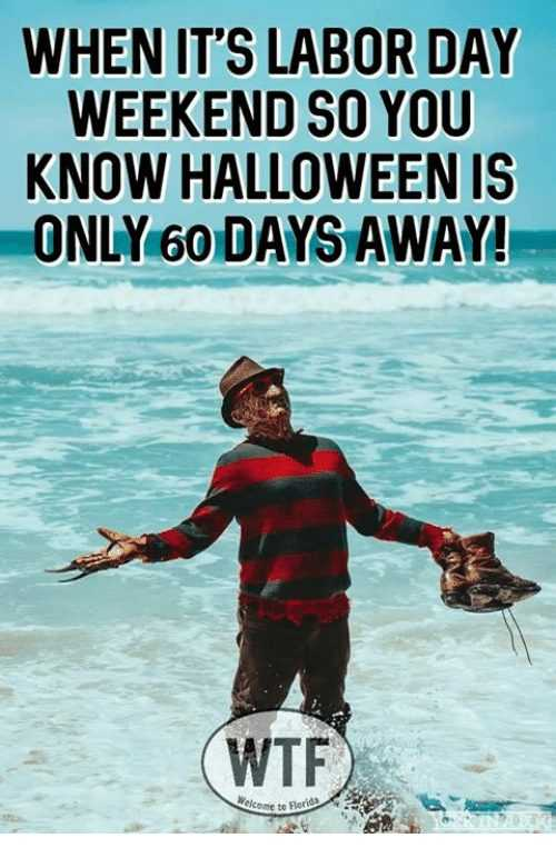 Funny Labor Day Memes halloween time