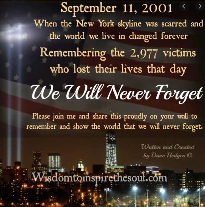 September 11 quotes - dave hedges