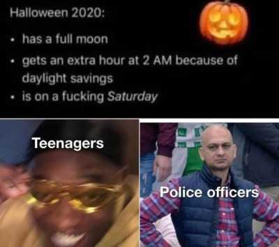 2020 halloween memes 2 - cops