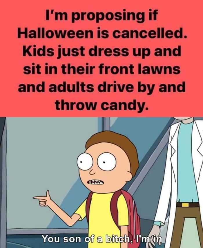 2020 halloween memes 7 - throw candy