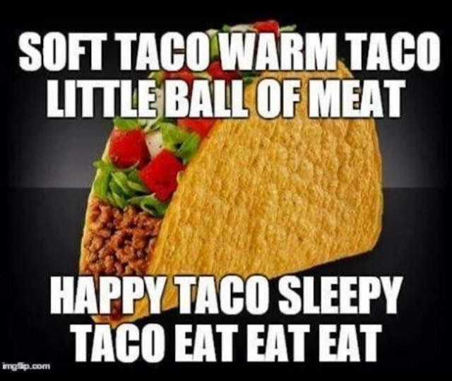 hilarious taco meme - taco happy taco