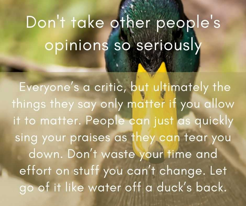 11 Life Lessons - don't take other's opinions so seriously
