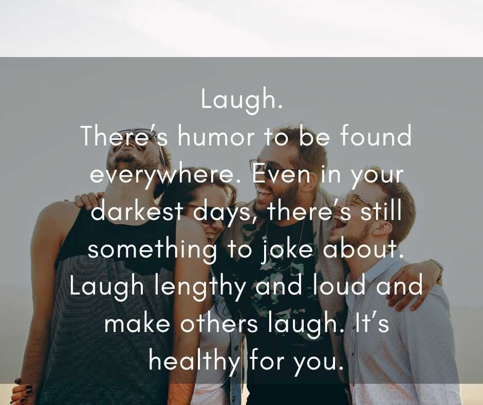 11 Life Lessons - laugh
