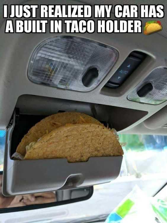 Funny food memes - taco holder