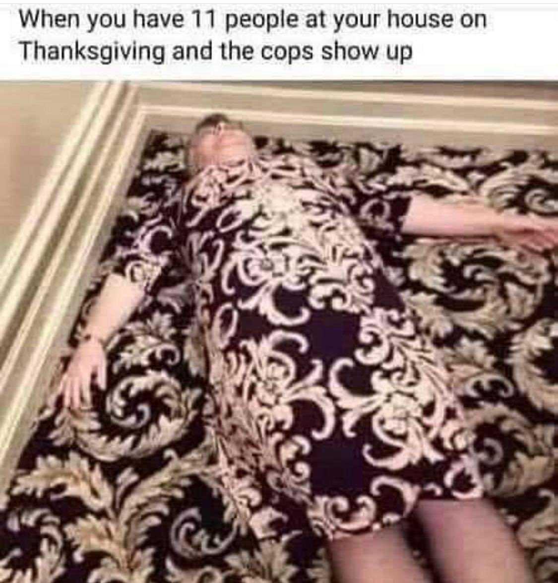 funny thanksgiving meme - hiding in plain sight