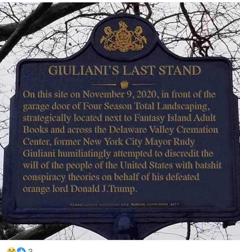 Funny Total Landscaping Memes - Giuliani's last stand