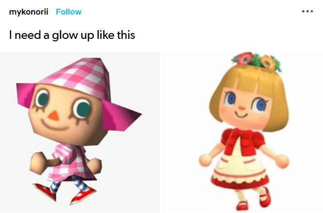 Funny animal crossing meme - glow ups