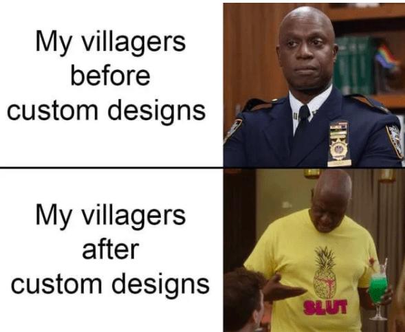 Funny animal crossing villager meme - love custom designs