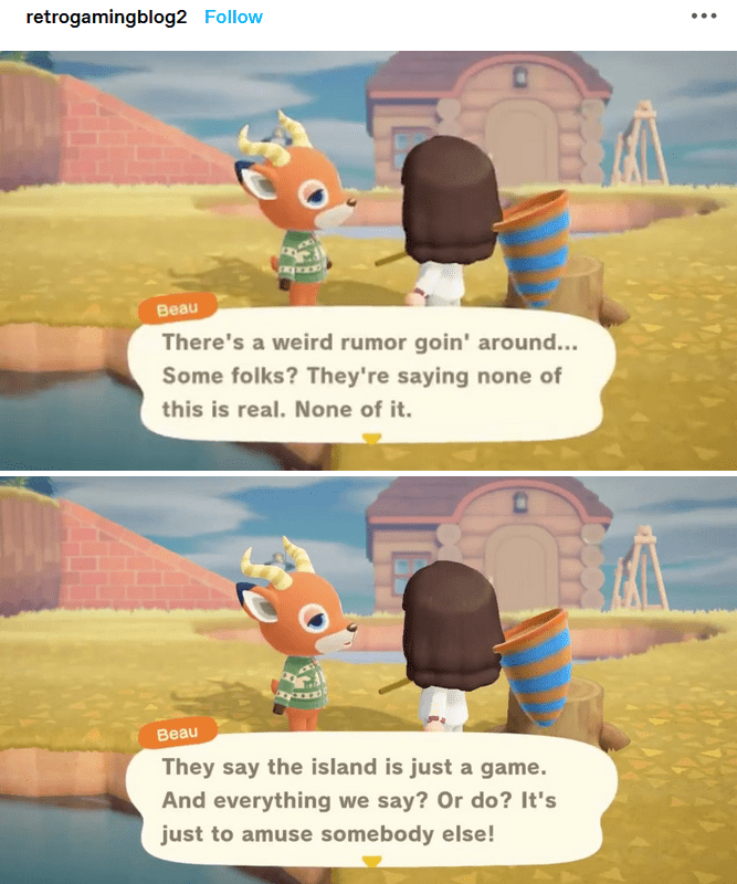 Funny animal crossing island meme - Real life is just a game?