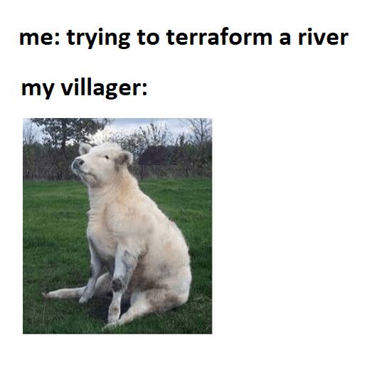 Funny animal crossing meme - uncooperative villager