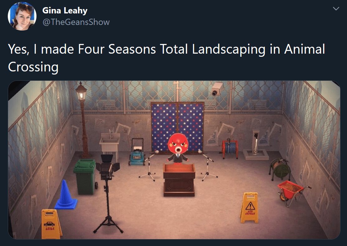 Funny Four Seasons Total Landscaping Memes - animal crossing