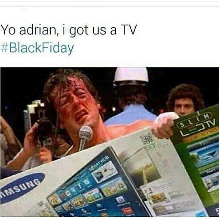 Funny Black Friday Memes - fight to get tv