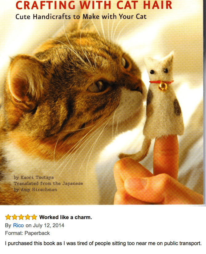 funny amazon review - cat hair