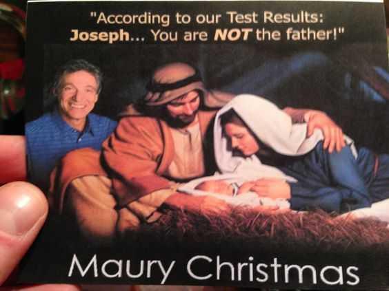 funny christmas card wins - Maury christmas!