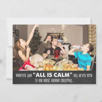 funny christmas card fails - all is calm