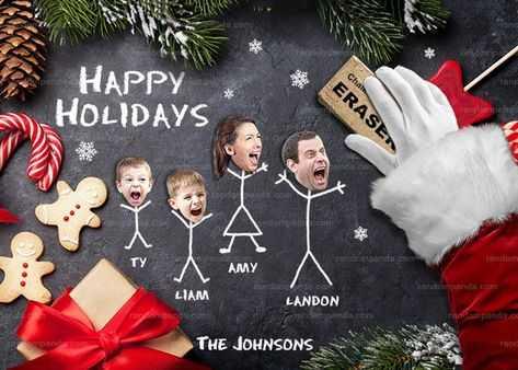 funny christmas card fails - bad Santa?
