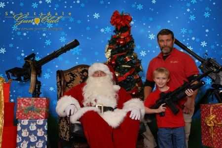 funny christmas card fails - Rambo would be proud
