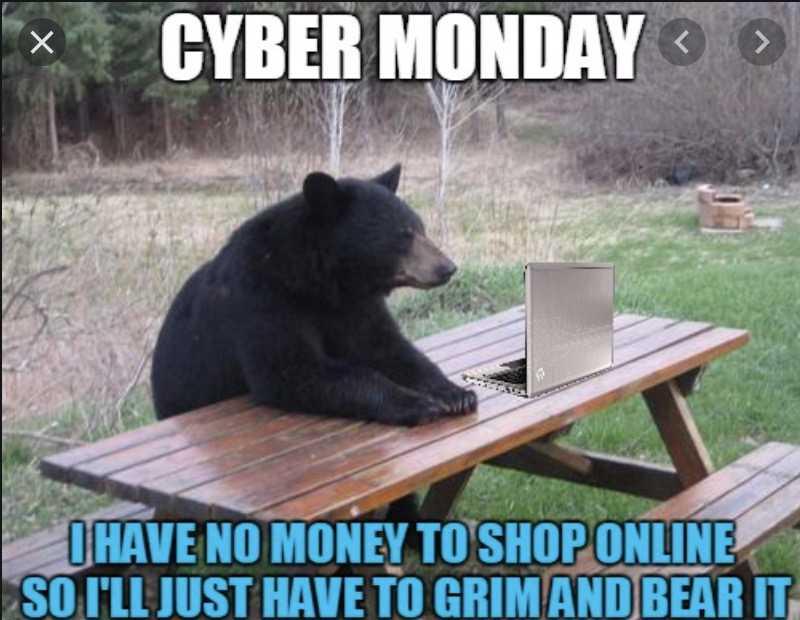 cyber monday animal meme unbearably good deals