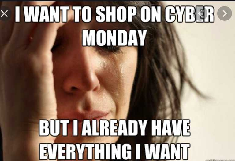 cyber monday meme - but the deals are so good