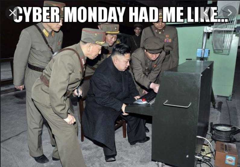 cyber monday meme - push the red button