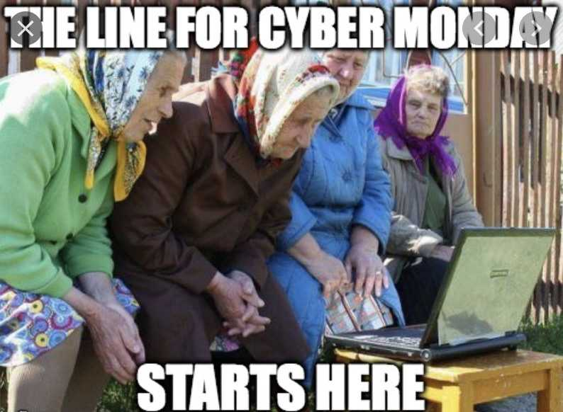 cyber monday meme - start the line up