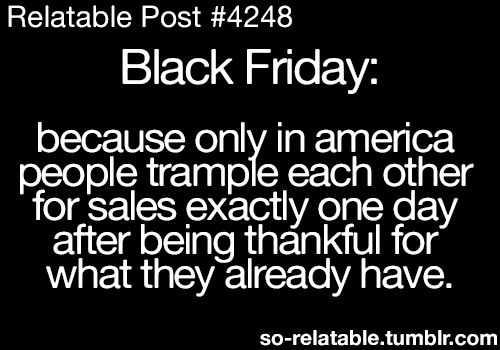 Black Friday Meme - short memories