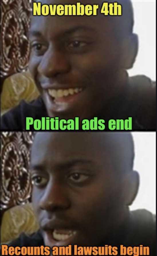 election 2020 memes - end of political ads
