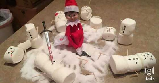Christmas fails - halloween elf on the shelf?