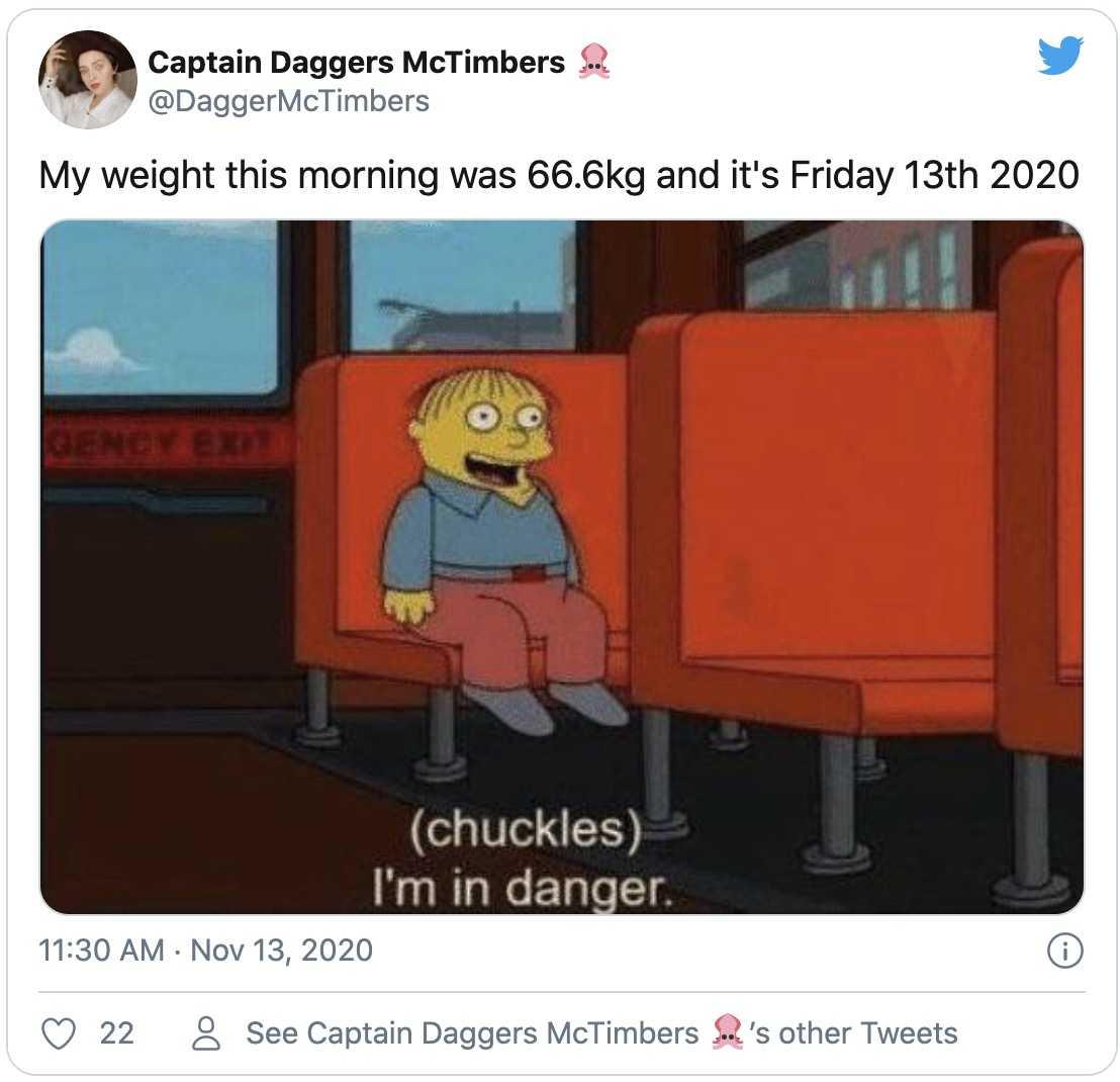 friday the 13th 2020 meme - nervous ralph laugh