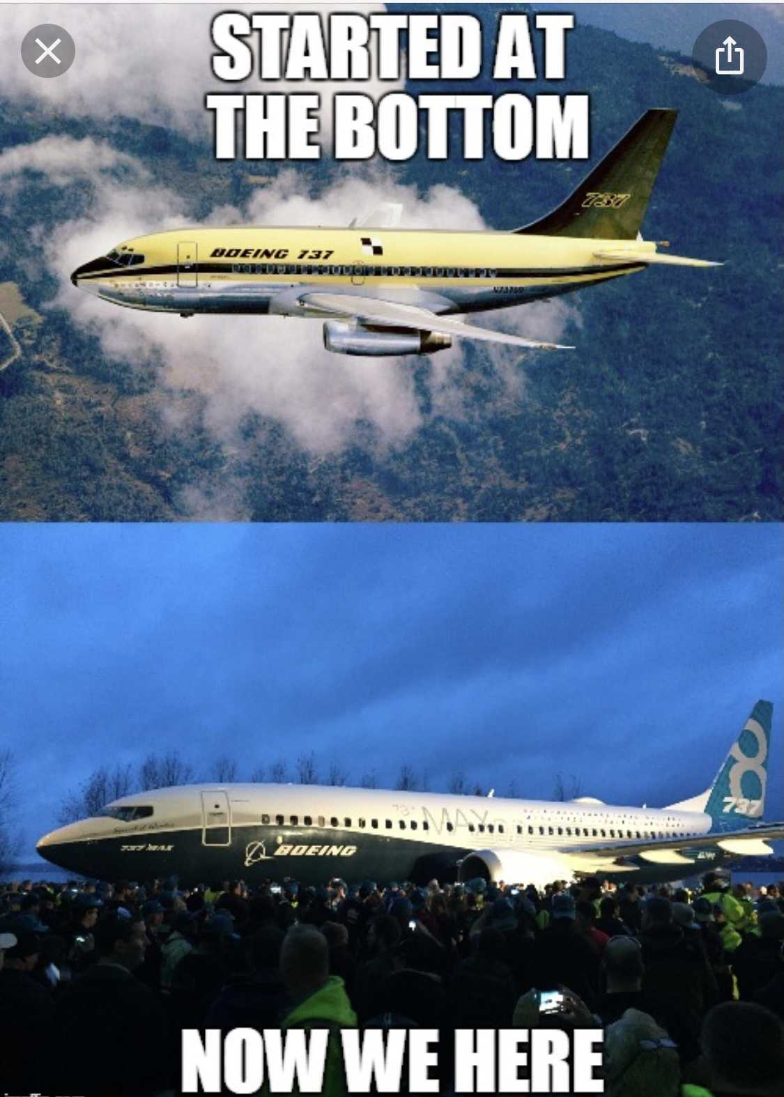 funny 737 max memes - started at bottom