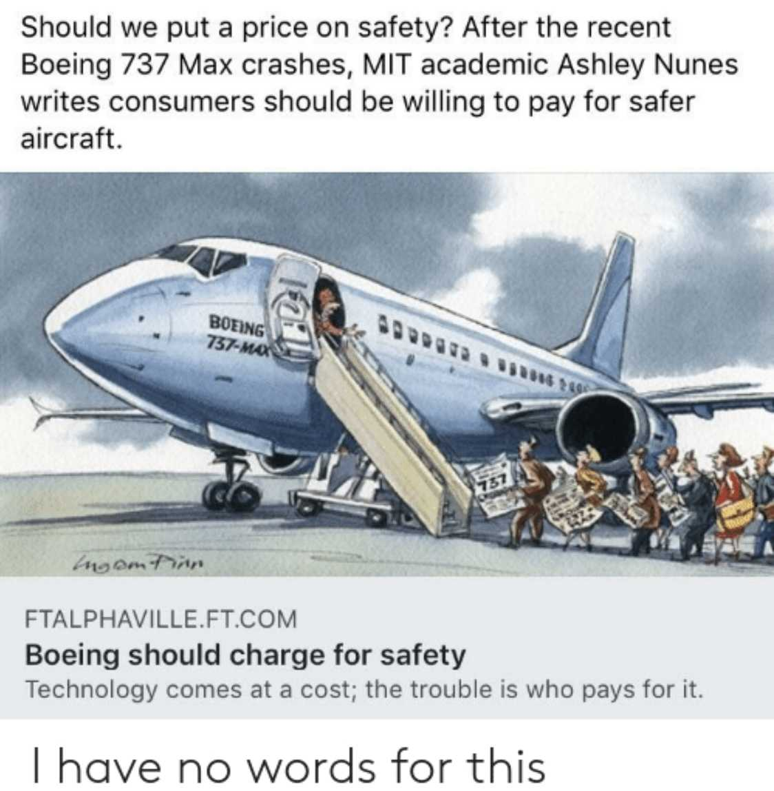 funny 737 max memes - paying for safety