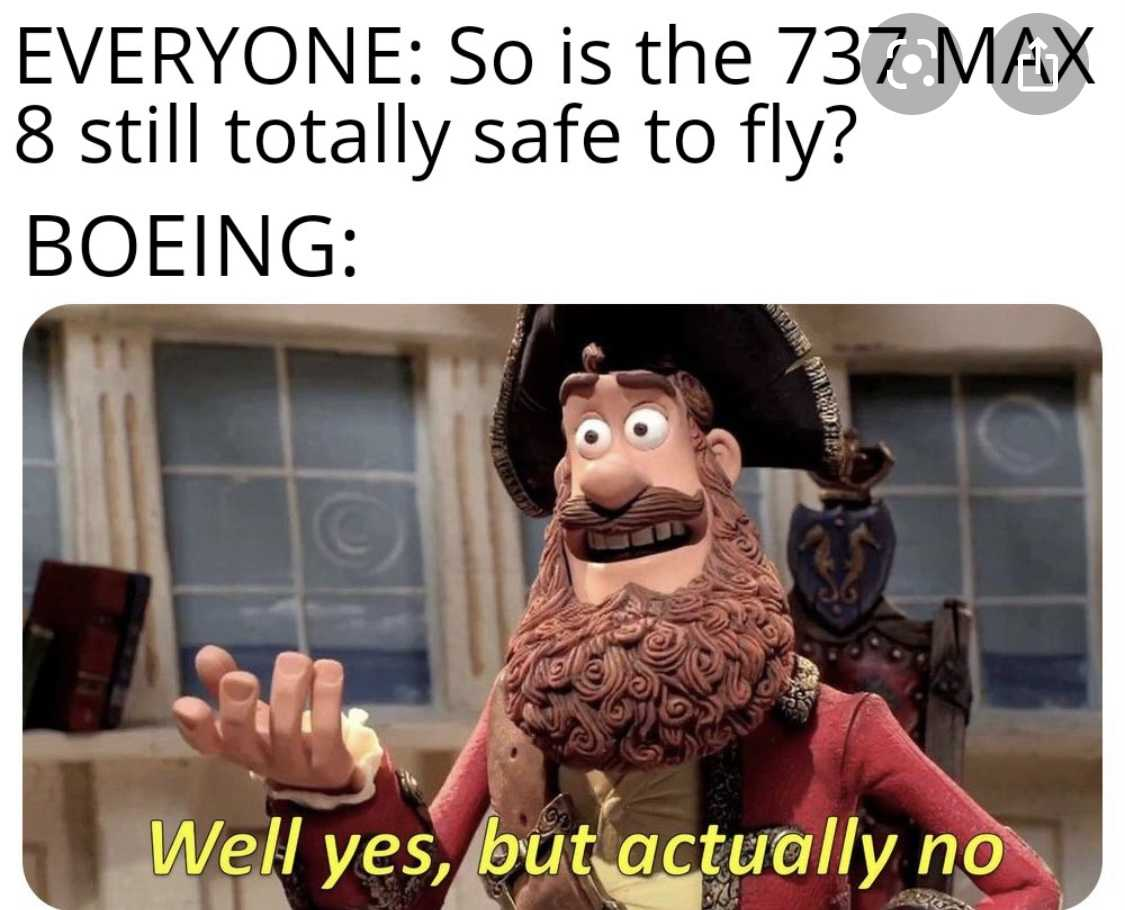 funny 737 max memes - safe to fly