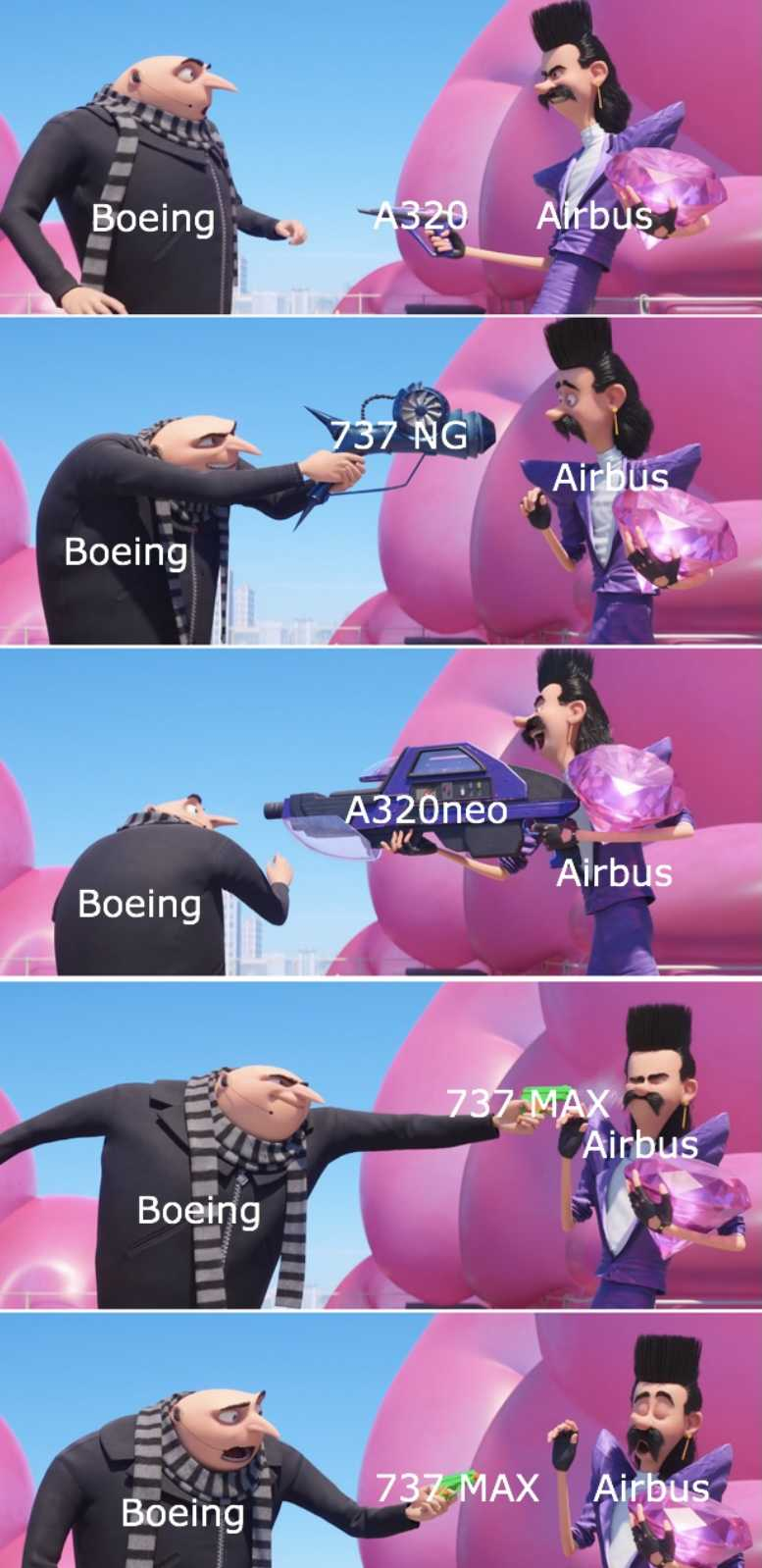 funny 737 max memes - boeing vs airbus