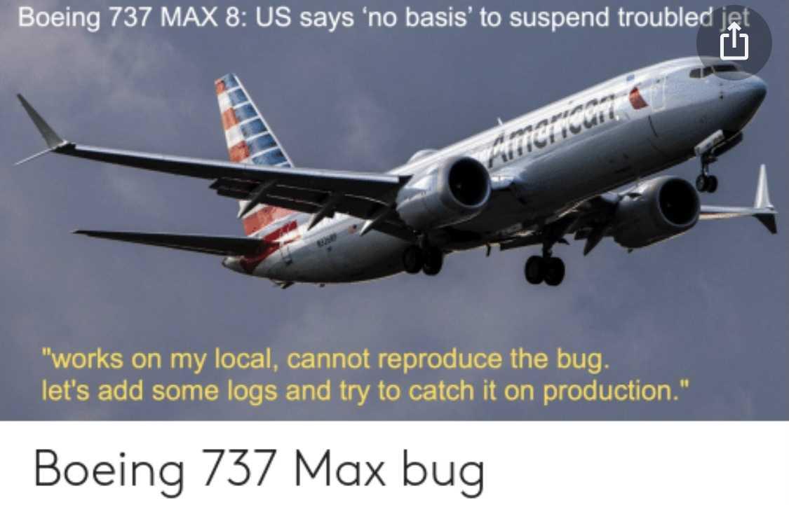 funny 737 max memes - bug
