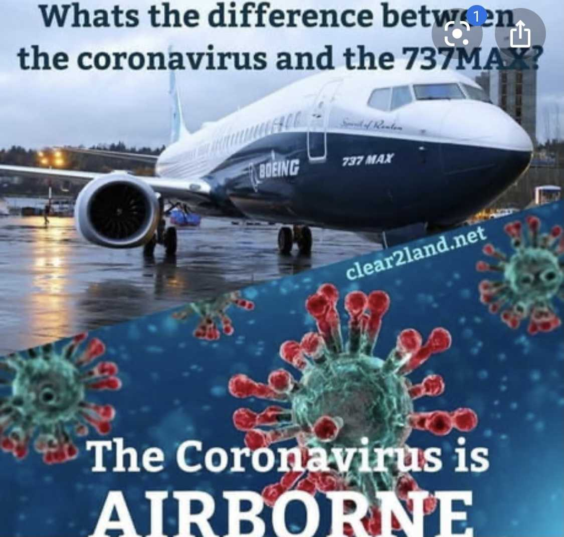 funny 737 max memes - covid vs 737max