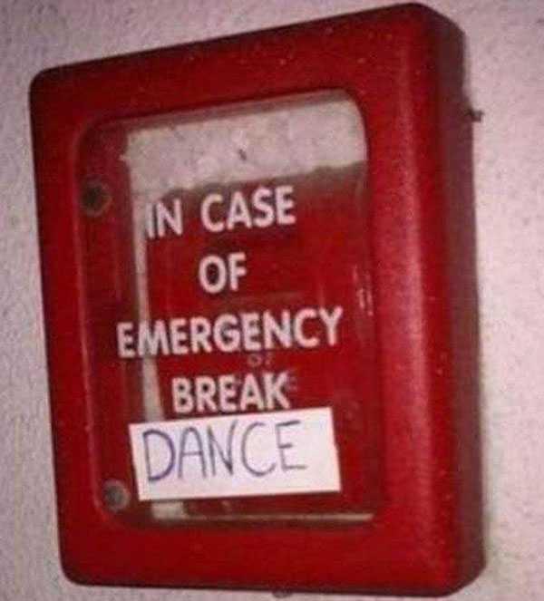 vandalism meme pic - break dance