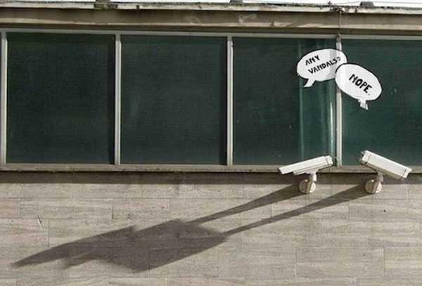vandalism signs funny - cameras