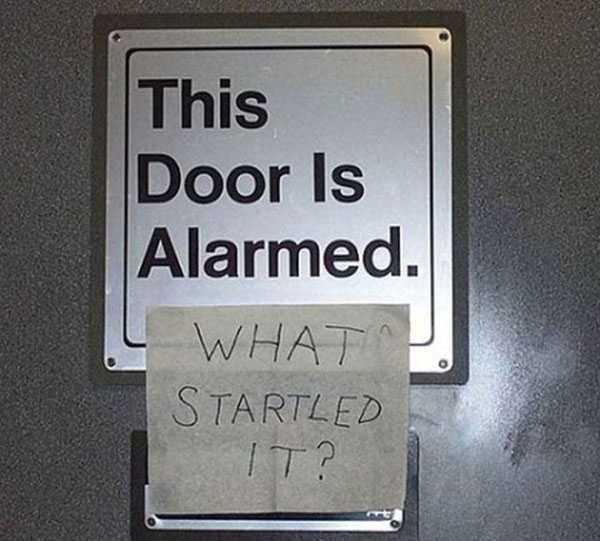 vandalism meme - alarmed door