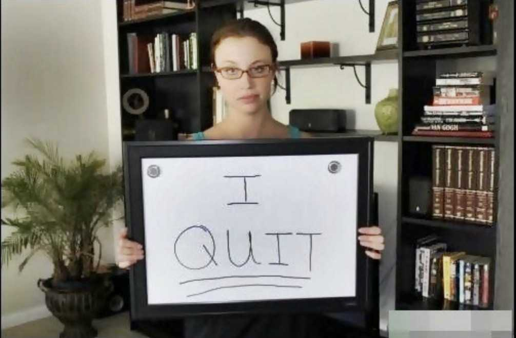 funny resignation stories - girl quits on white board 2