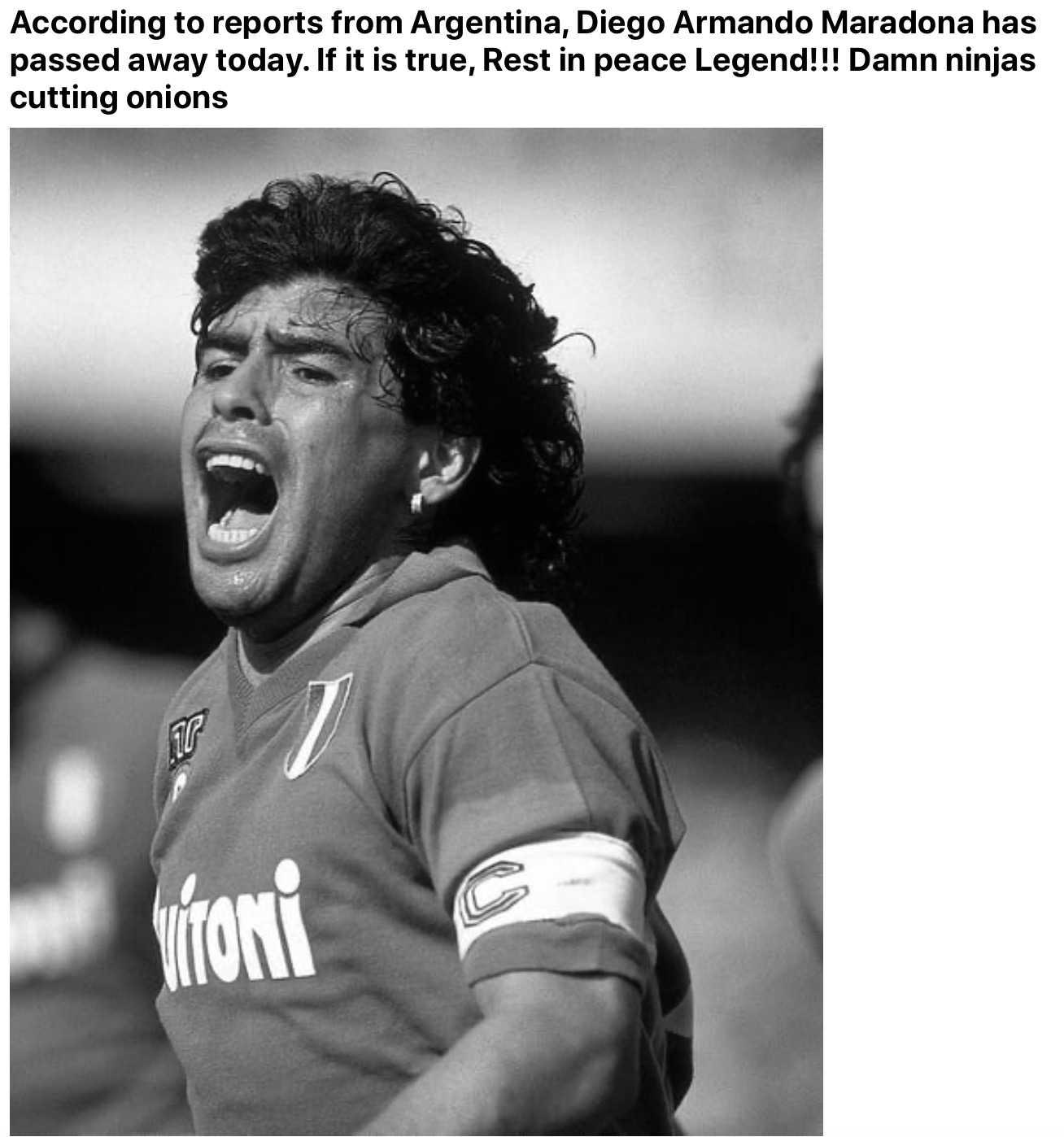 Maradona meme - rip