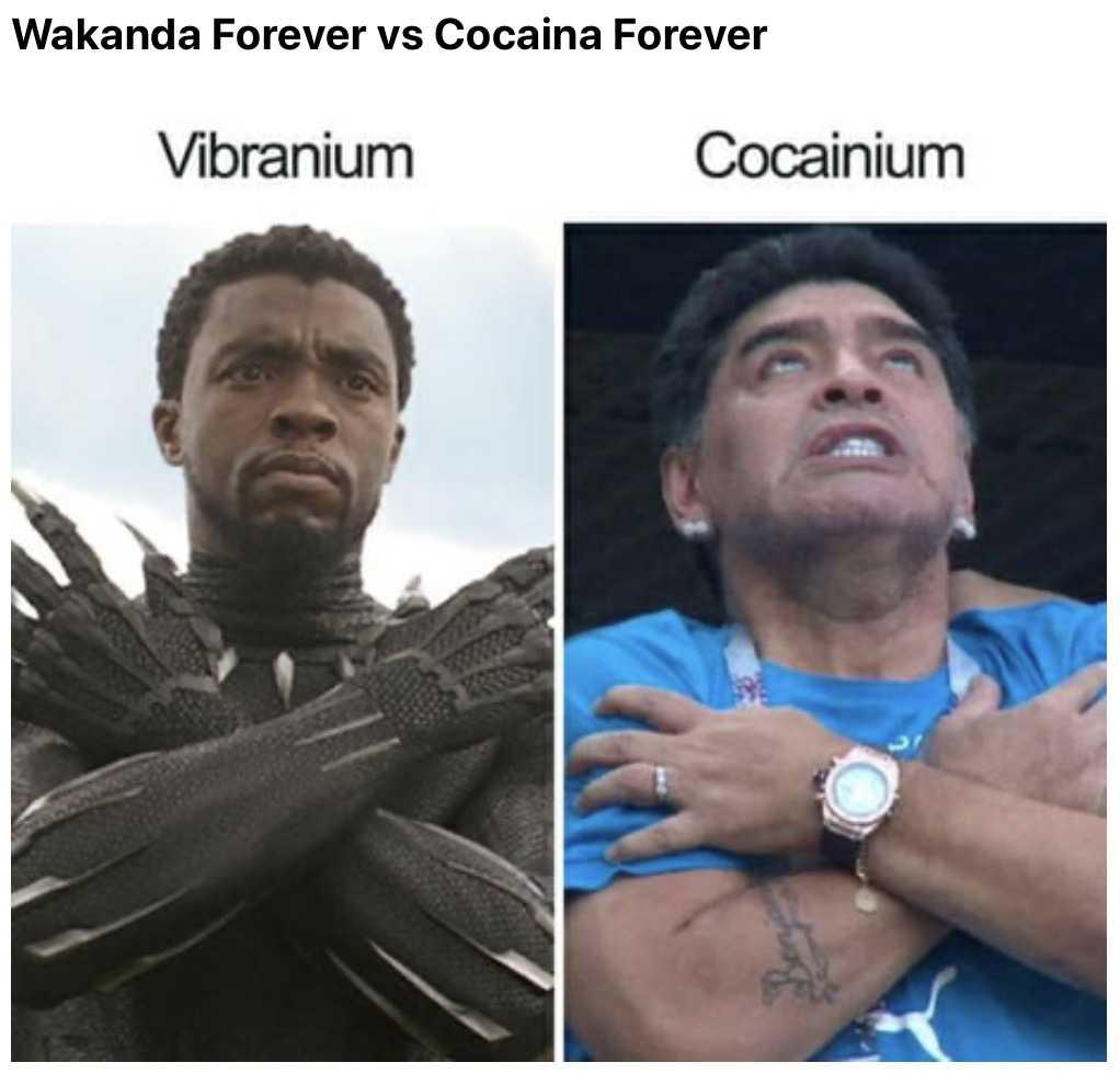 funny maradona meme - cocainism